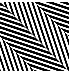 Black White Diagonal Stripe Seamless Pattern vector image