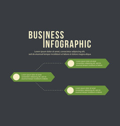 business infographic step label data vector image