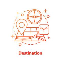 Choosing travel destination concept icon vector