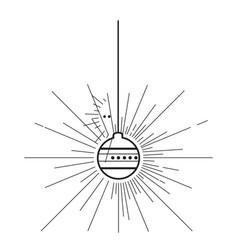 christmas ball outline vector image
