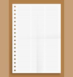 Crumpled standart three lined column blank series vector