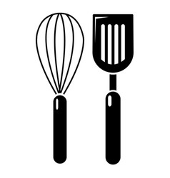 Cutlery bake icon simple style vector