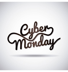 cyber monday sale commerce vector image