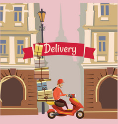 delivery pizza food banner vector image