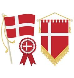 Denmark flags vector