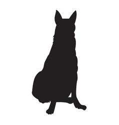 Dog black icon vector