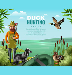 duck hunting vector image
