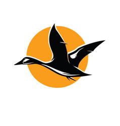 duck logo design vector image