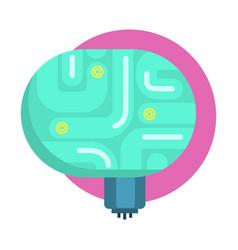 Elecrtonic brain for android human organ replica vector