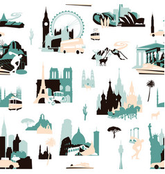 european holidays seamless pattern vector image
