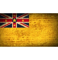 Flags niue with dirty paper texture vector