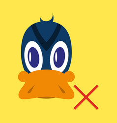 Flat icon in flat style duck vector
