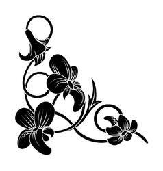 floral corner vector image