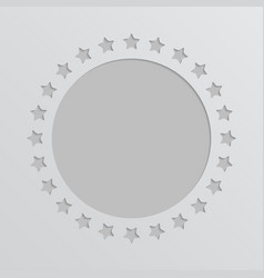 grey stars circle border stars frame design vector image