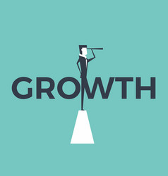 growth concept with businessman and telescope vector image