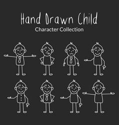 hand draw chailderen character design vector image