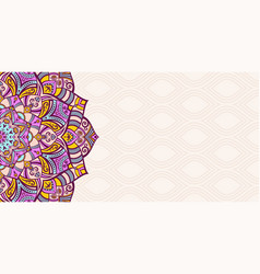 Horizontal mandala banner decorative mandala vector