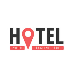 Hostel logo hotel logo travel rest place vector