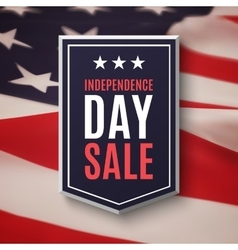 independence day 4th july sale background vector image
