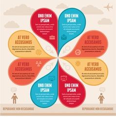 Infographic Concept - Creative Scheme vector image