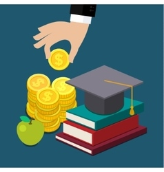 invest in education concept vector image