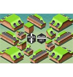 Isometric Galleries Tunnels and Sections vector