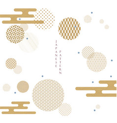 Japanese pattern with geometric background vector