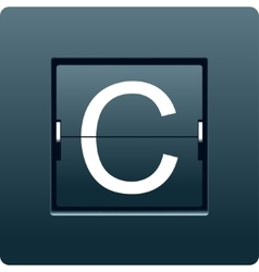 Letter C from mechanical scoreboard vector