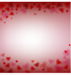love valentines day card with blur and sweet vector image