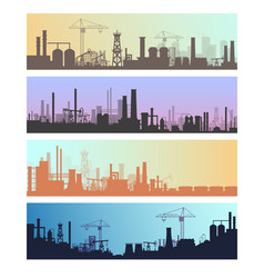 Manufacture industrial landscapes vector