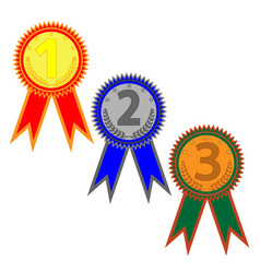 medal set with two ribbons 604 vector image