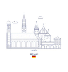 munich city skyline vector image