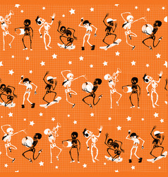 orange black dancing and skateboarding vector image