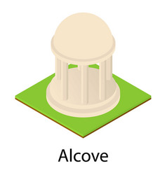 Park alcove icon isometric style vector