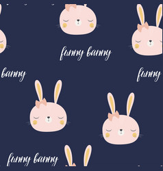 pattern with cute bunny vector image