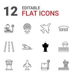 plane icons vector image