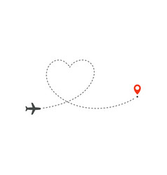 plane way icon airplane path direction vector image
