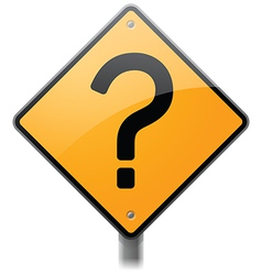 Question Mark Sign vector image