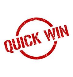 Quick win stamp vector