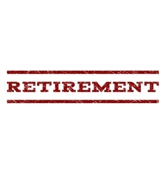 Retirement watermark stamp vector