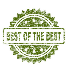 Scratched textured best of the best stamp seal vector