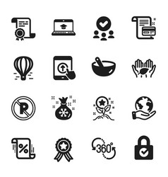 set business icons such as loyalty points vector image