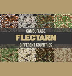 Set of flectarn camouflage seamless patterns vector