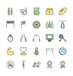 Sports Bold Icons 3 vector