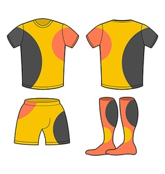 Sports football clothing set T-shirt shorts and vector