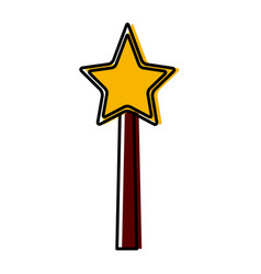 star magic wand vector image