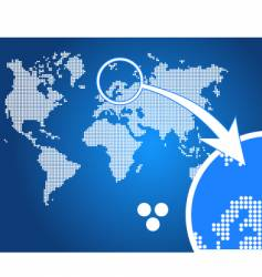 stylish world map circle vector image