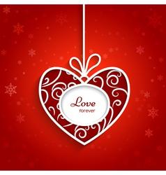 Swirly red heart vector image
