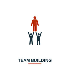 team building icon premium style design from vector image