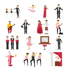 Theatre People Set vector